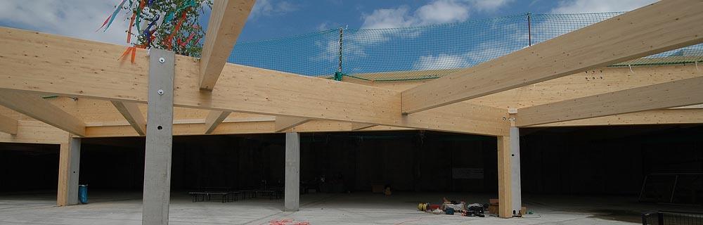 Brettschichtholz Dachbinder