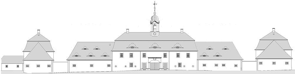 Fassade, Dachreiter, Holzkonstruktion