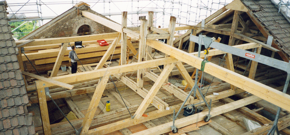 Dachkonstruktion Holztragwerk