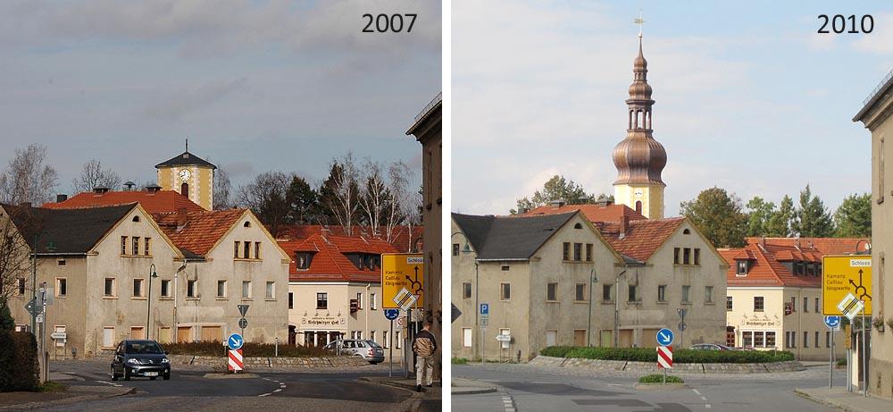 Kirchturm Wiederaufbau
