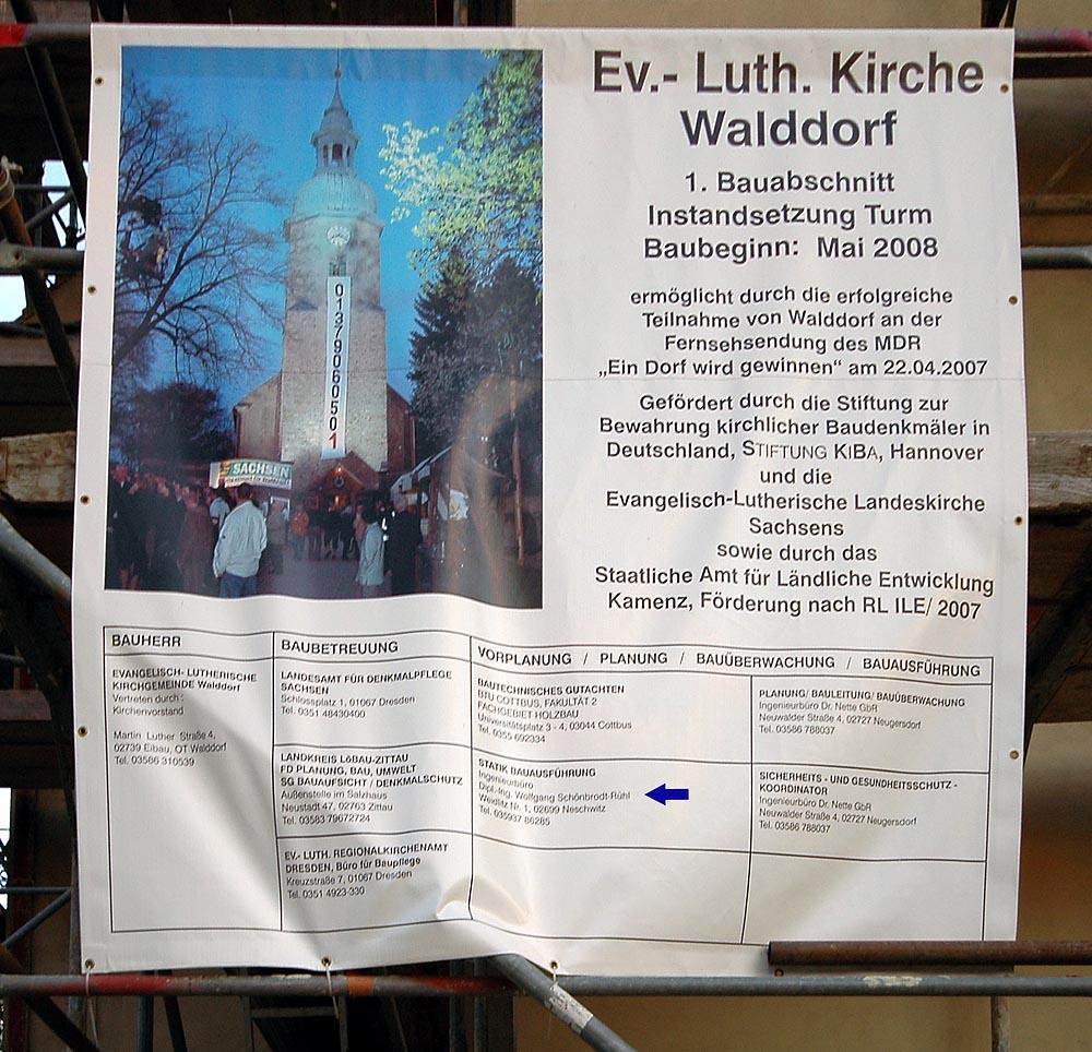 Kirche Walddorf Plakat