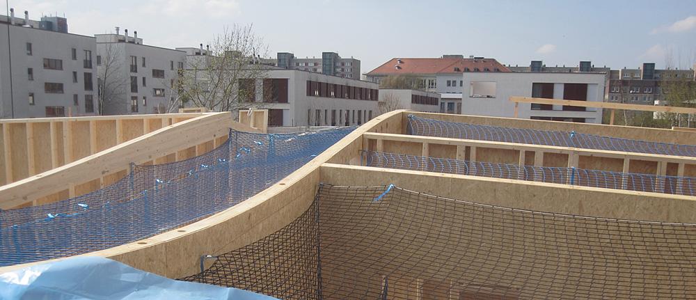 Holztafelbauweise Holzständerwand gekrümmt OSB